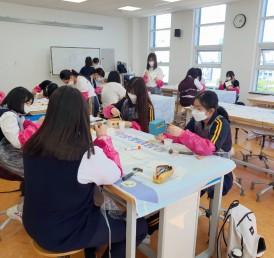 2021년 5월 통영여자중학교 직업체…